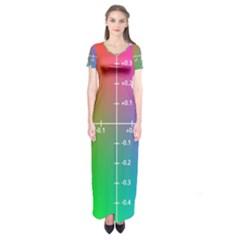 Formula Plane Rainbow Short Sleeve Maxi Dress
