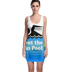 Funny Swiming Water Sleeveless Bodycon Dress