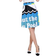 Funny Swiming Water A-Line Skirt