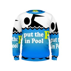 Funny Swiming Water Kids  Sweatshirt