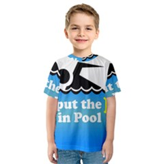 Funny Swiming Water Kids  Sport Mesh Tee