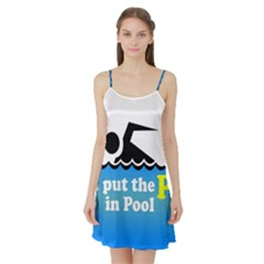 Funny Swiming Water Satin Night Slip
