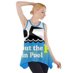 Funny Swiming Water Side Drop Tank Tunic