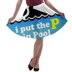 Funny Swiming Water A-line Skater Skirt