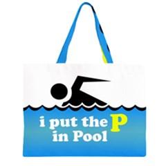 Funny Swiming Water Large Tote Bag