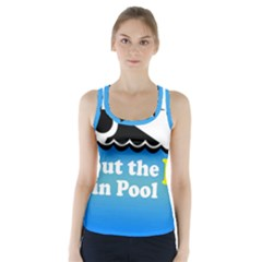 Funny Swiming Water Racer Back Sports Top