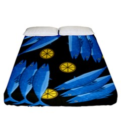 Mackerel Meal Fitted Sheet (california King Size)