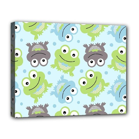 Frog Green Canvas 14  x 11