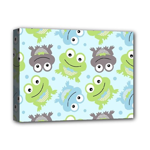 Frog Green Deluxe Canvas 16  x 12