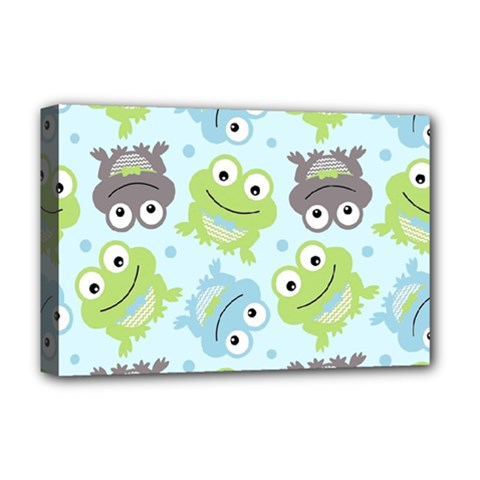 Frog Green Deluxe Canvas 18  x 12