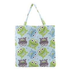 Frog Green Grocery Tote Bag