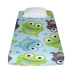 Frog Green Fitted Sheet (single Size)