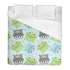 Frog Green Duvet Cover (full/ Double Size)