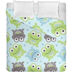 Frog Green Duvet Cover Double Side (california King Size)