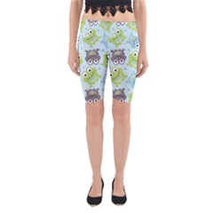 Frog Green Yoga Cropped Leggings