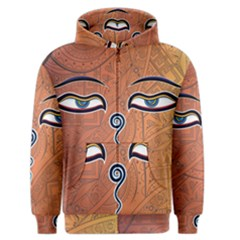 Face Eye Men s Zipper Hoodie