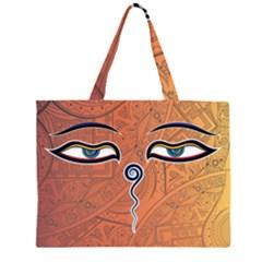 Face Eye Large Tote Bag