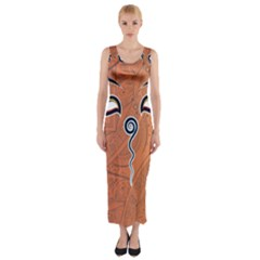 Face Eye Fitted Maxi Dress