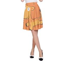 Giraffe Copy A-Line Skirt