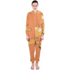 Giraffe Copy Hooded Jumpsuit (Ladies)