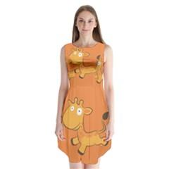 Giraffe Copy Sleeveless Chiffon Dress