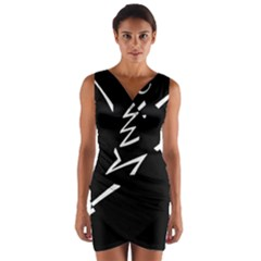 Great Gig Dance Wrap Front Bodycon Dress
