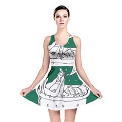 Green Mermaid Reversible Skater Dress