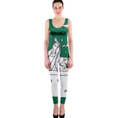 Green Mermaid OnePiece Catsuit