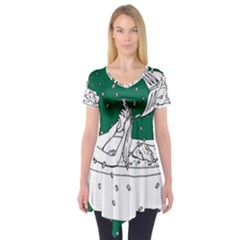 Green Mermaid Short Sleeve Tunic