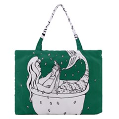 Green Mermaid Medium Zipper Tote Bag