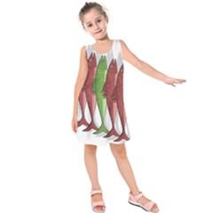 Mackerel Military 2 Kids  Sleeveless Dress