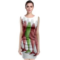 Mackerel Military 2 Sleeveless Velvet Midi Dress