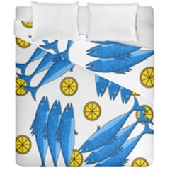 Mackerel Meal 2 Duvet Cover Double Side (california King Size)