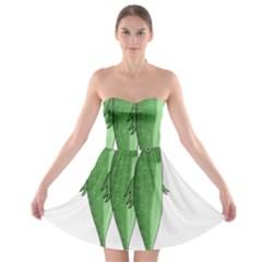 Mackerel - green Strapless Bra Top Dress