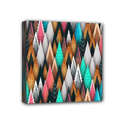 Background Pattern Abstract Triangle Mini Canvas 4  x 4