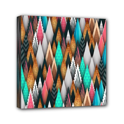 Background Pattern Abstract Triangle Mini Canvas 6  x 6