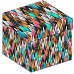 Background Pattern Abstract Triangle Storage Stool 12