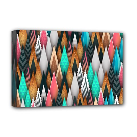 Background Pattern Abstract Triangle Deluxe Canvas 18  x 12