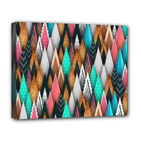 Background Pattern Abstract Triangle Deluxe Canvas 20  x 16