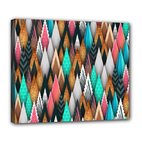 Background Pattern Abstract Triangle Deluxe Canvas 24  x 20
