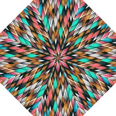 Background Pattern Abstract Triangle Hook Handle Umbrellas (Large)