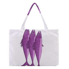 Mackerel   Magenta Medium Tote Bag