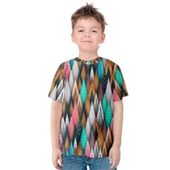 Background Pattern Abstract Triangle Kids  Cotton Tee