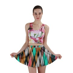 Background Pattern Abstract Triangle Mini Skirt