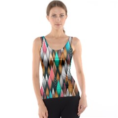 Background Pattern Abstract Triangle Tank Top