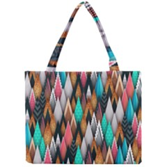 Background Pattern Abstract Triangle Mini Tote Bag