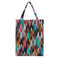 Background Pattern Abstract Triangle Classic Tote Bag