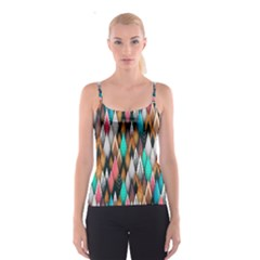 Background Pattern Abstract Triangle Spaghetti Strap Top