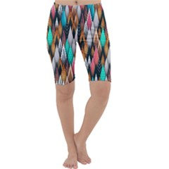 Background Pattern Abstract Triangle Cropped Leggings