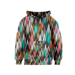Background Pattern Abstract Triangle Kids  Pullover Hoodie